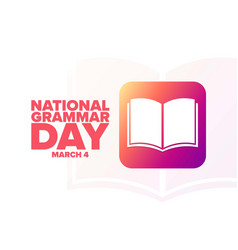 National grammar day march 4 holiday concept vector
