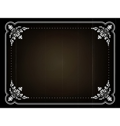 Old movie frame vector