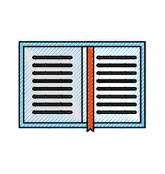 overhead view of a book personal organiser planner vector image