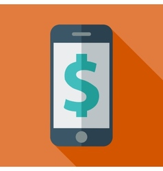 Phone with dollar sign vector image