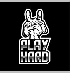Play hard apparel design vector