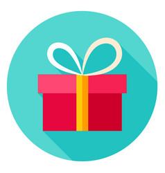 present box circle icon vector image