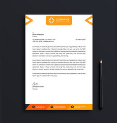 professional letterhead template design vector image