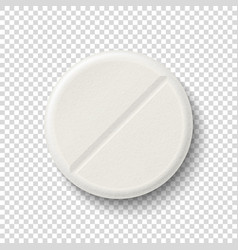 realistic 3d white medical pill icon vector image