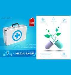 realistic healthcare colorful concept vector image