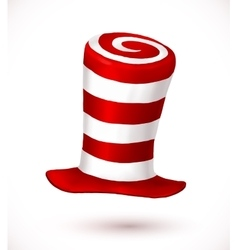 Red and white colors stripes realistic vector image
