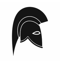 Roman helmet icon simple style vector