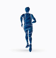 Runner joggerathletic running vector