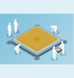 semiconductor isometric vector image