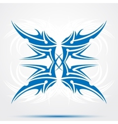 Sharp blue tribal tattoo vector image