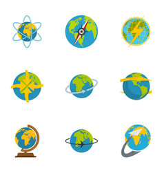 sphere icons set flat style vector image
