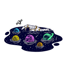 Swimming in space vector