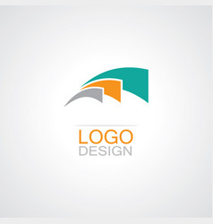 Swirl loop abstract logo vector