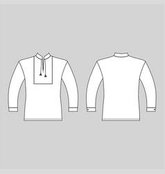 t slavic shirt vyshivanka man template front vector image