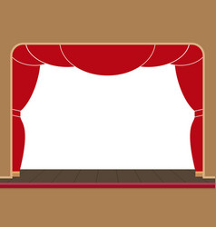 theater stage with an open curtain flat vector image
