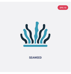 Two color seaweed icon from animals concept vector