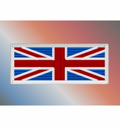 Union jack fancywork vector