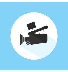 Video Camera Footage Cinema Icon Pro Silhouette vector image