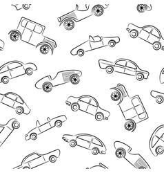 Vintage cars pattern vector image