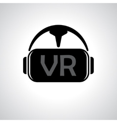Virtual reality glasses background vector image