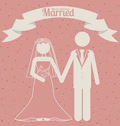 Wedding design vector image
