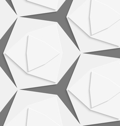 White hexagonal shapes layered seamless pattern vector image