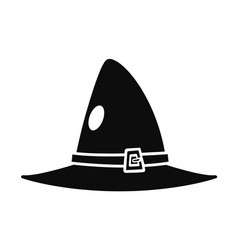 witch hat icon simple style vector image