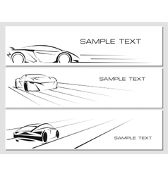 Car banners set vector image