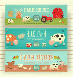 farm house web banner hero image vector image vector image