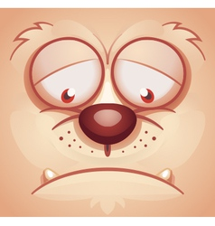 Sad Animal Face vector image vector image