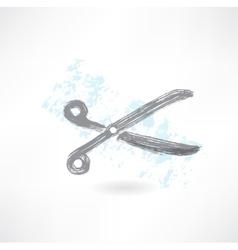 scissors grunge icon vector image