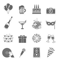 Celebration Icons Set vector image