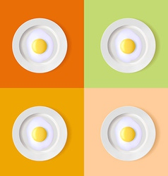 eggs on a plate vector image vector image