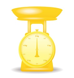golden color weight scale market isolate on white vector image vector image