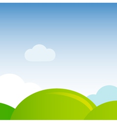 Green meadow nature background vector image