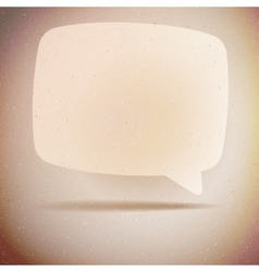 Speech bubble on vintage background EPS10 vector image