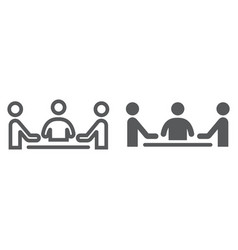 teamwork line and glyph icon development vector image