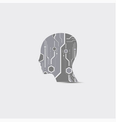 abstract futuristic technology head vector image