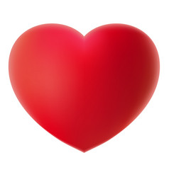 big red 3d heart on a white background realistic vector image vector image
