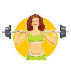 Girl doing fitness exercise vector image vector image