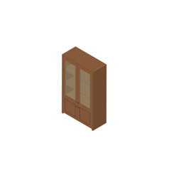 isolated cupboard isometric cabinet vector image