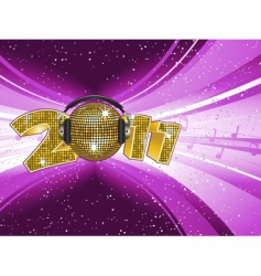 new year disco light explostion vector image vector image