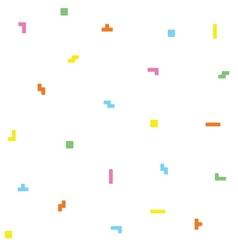 Retro game geometric pattern vector image