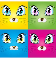 Set with colorful cats vector image vector image