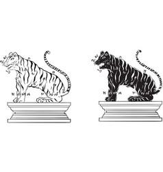 thai yantra thai tradition tattoo vector image vector image