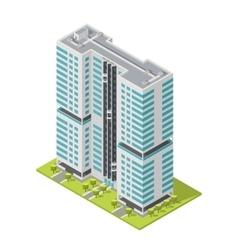 Realistic office building isometric skyscraper vector image