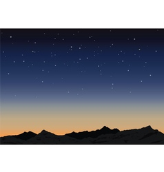 Sky and mountains vector image vector image