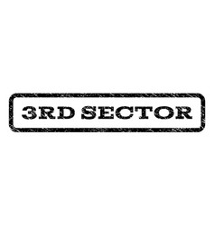 3rd sector watermark stamp vector image