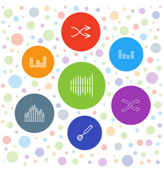 7 mix icons vector image