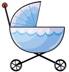 A baby pram vector